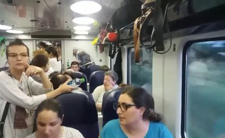 Motivul pentru care CFR trimite trenuri cu 2 vagoane pe rute supraaglomerate. \