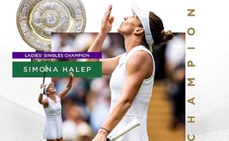 Simona Halep, campioană la Wimbledon
