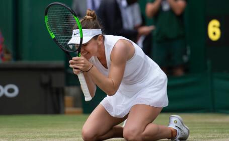 Simona Halep dupa victoria de la Wimbledon