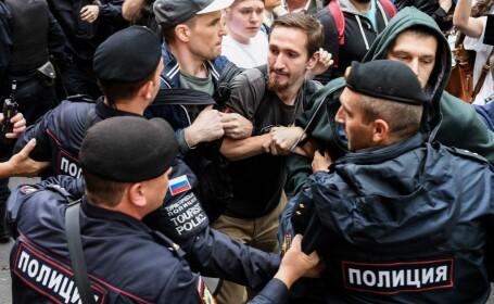 Protestatari arestaţi la Moscova, pentru că au cerut alegeri corecte
