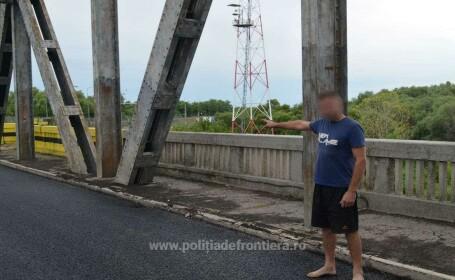 Bărbat depistat în timp ce încerca să intre ilegal în România