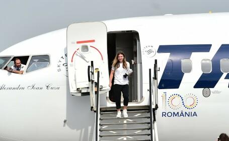 Simona Halep, aeroport