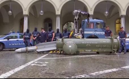 Poliția italiană a descoperit un adevărat arsenal de război. Cine a fost vizat de operațiune