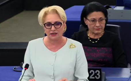 Cum a vorbit Dăncilă fără foaie în Parlamentul European. Discursul coeziunii