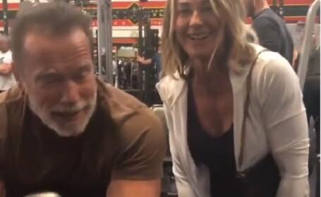 Nadia Comăneci, alături de Schwarzenegger la împlinirea a 43 de ani de la primul 10. VIDEO