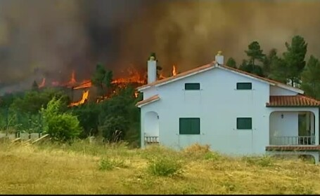 1000 de pompieri și armata se luptă cu incendiile de pădure din Portugalia