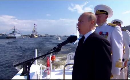 Desfășurare impresionantă a Forțelor Navale la Sankt Petersburg. Explicația lui Putin
