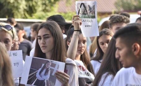 Protest elevi Caracal