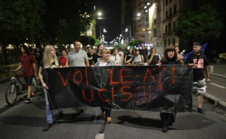 Protest in Piata Victoriei, dupa publicarea stenogramelor de la 112 cu Alexandra - 5