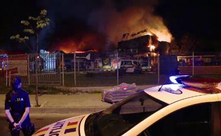 Incendiu la Iași