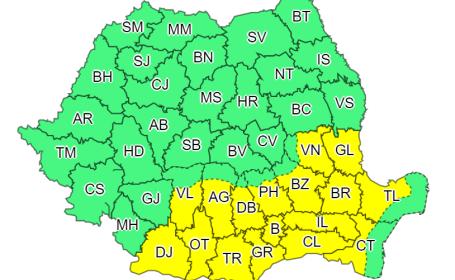 ANM: Cod galben de caniculă în 16 judeţe şi în municipiul Bucureşti
