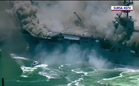 Incendiu nava