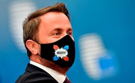 Xavier Bettel, prim-ministrul Luxemburgului, la Summitul UE de la Bruxelles