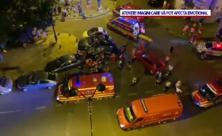"""Accident grav în București. Tineri secerați de o mașină scăpată de sub control: """"Nu am putut să mă uit"""""""