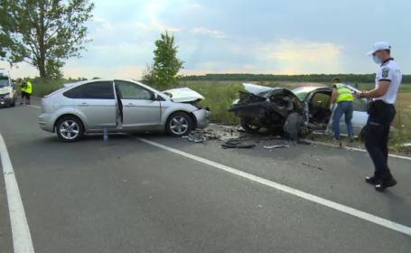 Tânăr de 21 de ani, în stare gravă după ce mașina sa a fost izbită frontal de un alt autoturism