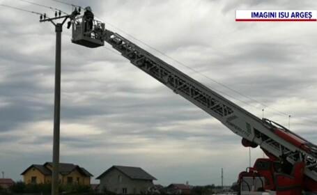 Misiune neobișnuită pentru pompierii din Piteşti. Operațiunea inedită la care au fost chemați