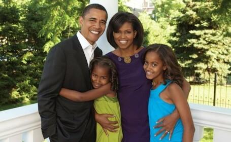 Familia Obama, turisti de vaza la Paris!