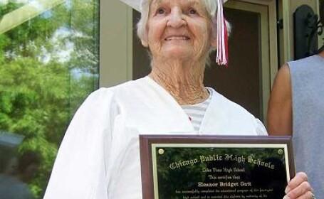 A terminat liceul la 90 de ani!