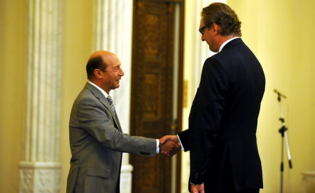 Jacques Louis Werner si Traian Basescu