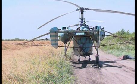 Tragedie inexplicabila: barbat decapitat de elicea unui elicopter, in Timis