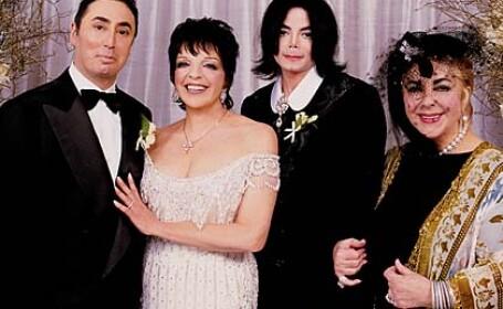 Michael si Elizabeth Taylor la nunta lui David Gest cu Liza Minnelli