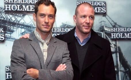 Jude Law si Guy Ritchie la premiera filmului