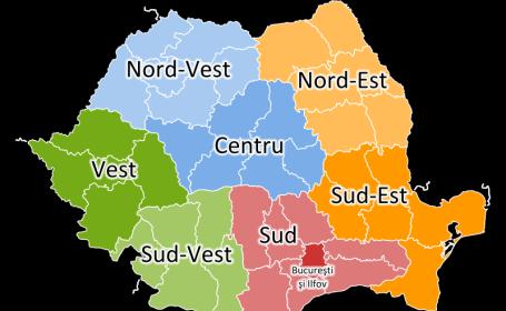 Romania pe regiuni