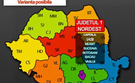 Noua harta a Romaniei