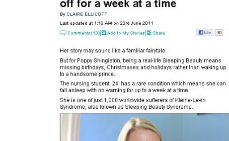 Boala rara: frumoasa din padurea adormita exista. Povestea tinerei a carei viata e condusa de somn