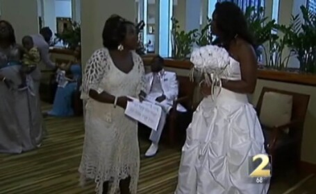 VIDEO. O nunta de vis s-a transformat in cateva clipe intr-un adevarat cosmar. Ce a patit mireasa