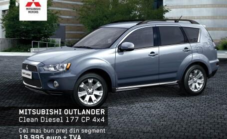 Test-drive cu Mitsubishi Outlander,ASX,Lancer, Pajero si L200, 8-10 iunie la CASA AUTO TIMISOARA (P)