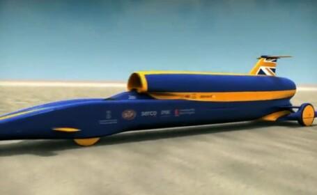 VIDEO. Masina care va fi mai rapida ca un glonte se lanseaza in acest an. Va depasi 1.600 km/h