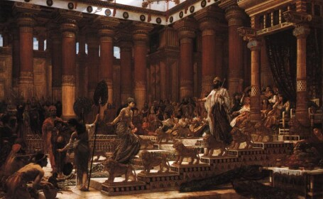 pictura, regina din Saaba cu regele Solomon