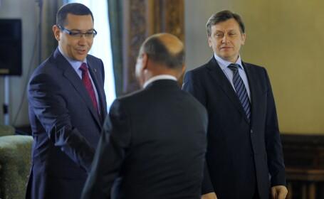 Victor Ponta, Crin Antonescu si Traian Basescu