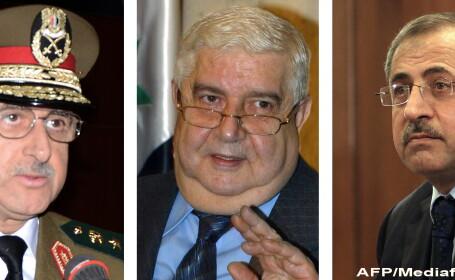 Dawood Rajiha (s), Walid Muallem (c) Mohammed al-Shaar (d)