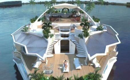 E yacht, insula si vila de lux. E cea mai frumoasa jucarie pentru miliardarii lumii.Costa 4 mil euro