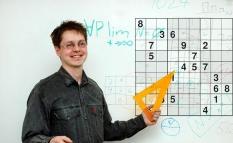 Provocarea saptamanii. Cea mai complicata grila Sudoku din lume: \
