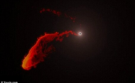 nor de gaz inghitit de o gaura neagra