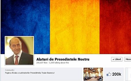 Traian Basescu pe Facebook