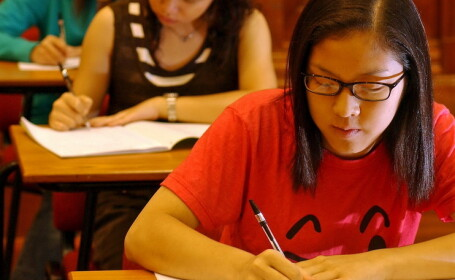 eleve, examen, China