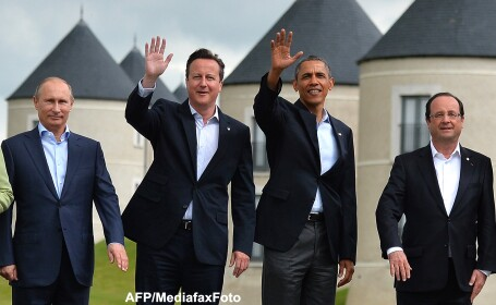 Vladimir Putin, David Cameron, Barack Obama, Francois Hollande