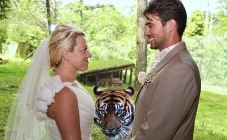Cea mai surprinzatoare aparitie intr-o fotografie de nunta. Ce se intampla cand iti faci poze la ZOO