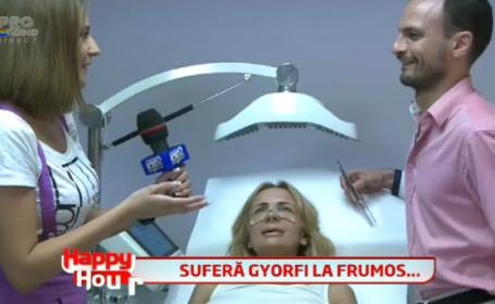 Daniela Gyorfi si-a dat jos bandajul in direct la \