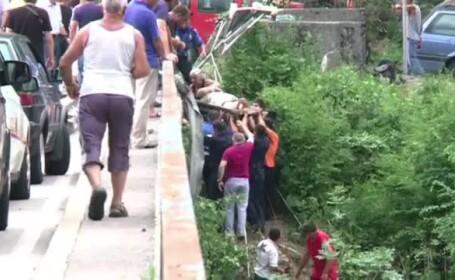 raniti, accident autocar, Muntenegru