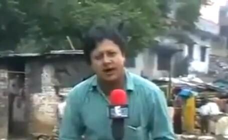 Imaginile care i-ar putea distruge cariera unui reporter. In ce ipostaza a fost filmat. VIDEO