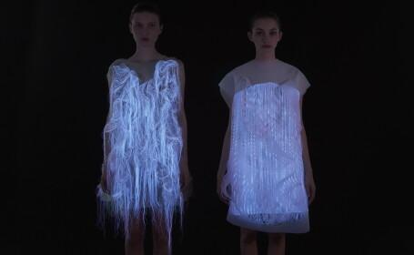 Tehnologie senzoriala revolutionara: ce se intampla atunci cand lumea se uita la aceste rochii