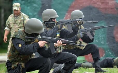 soldati ucraina, exercitiu