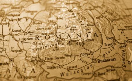 romania harta sepia
