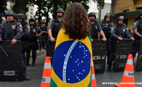 brazilia politie protestatara