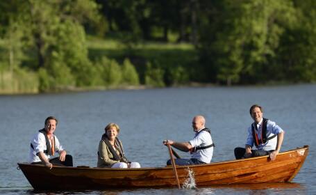 David Cameron, Angela Merkel, Fredrik Reinfeldt si Mark Rutte